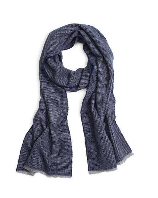 Brooks Brothers | Blue Plain Weave Wool Scarf for Men | Lyst
