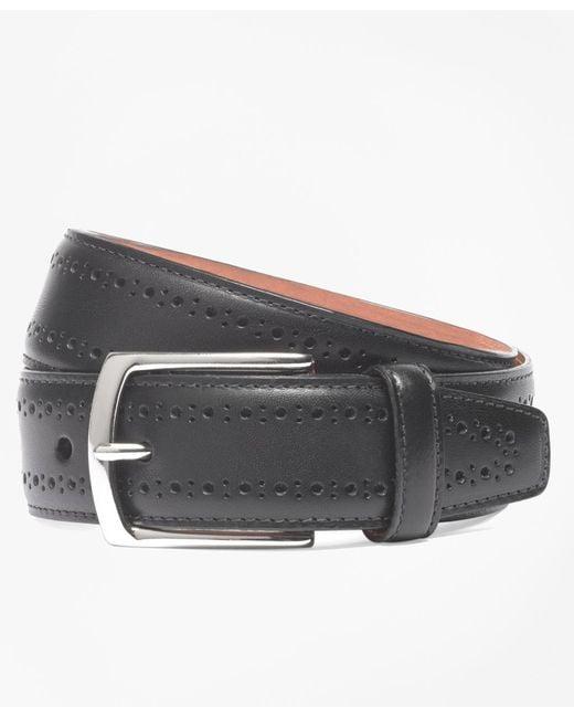 Brooks Brothers | Black Allen Edmonds Perforated Belt for Men | Lyst