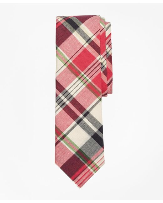 Brooks Brothers | Pink Plaid Madras Tie for Men | Lyst