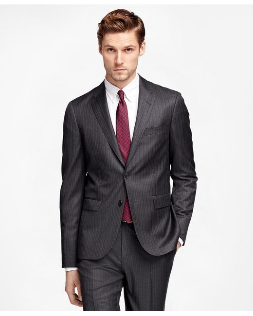 Brooks Brothers | Gray Alternating Stripe Suit Jacket for Men | Lyst