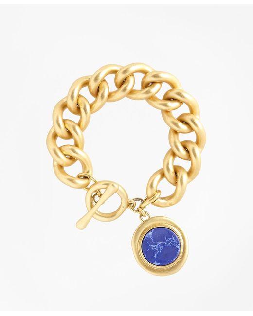 Brooks Brothers   Metallic Gold-plated Toggle Pendant Bracelet   Lyst