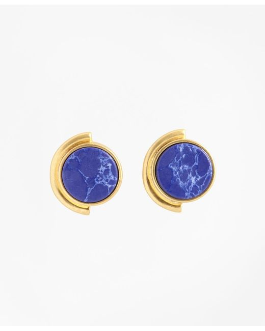 Brooks Brothers | Metallic Gold-plated Geometric Stud Earrings | Lyst
