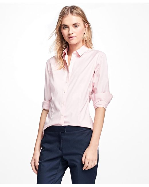 Brooks Brothers | Pink Non-iron Tailored-fit Dress Shirt | Lyst