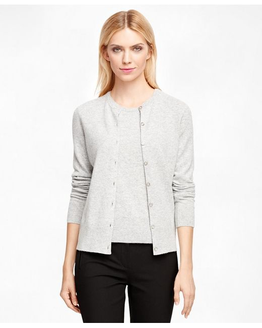 Brooks Brothers | Gray Cashmere Cardigan | Lyst