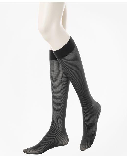 Brooks Brothers   Black Exploded Herringbone Trouser Socks   Lyst