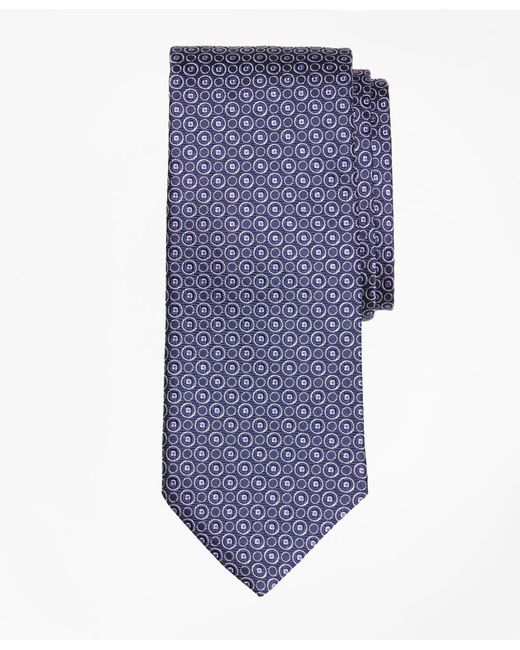 Brooks Brothers | Blue Alternating Open Circle Tie for Men | Lyst