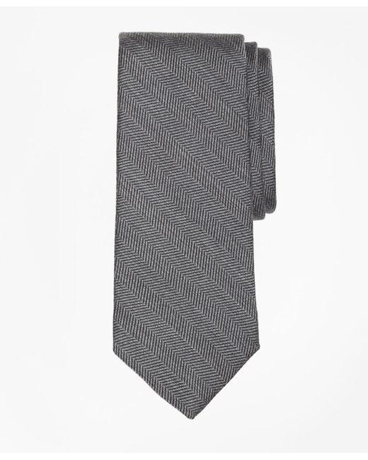 Brooks Brothers - Gray Melange Herringbone Tie for Men - Lyst