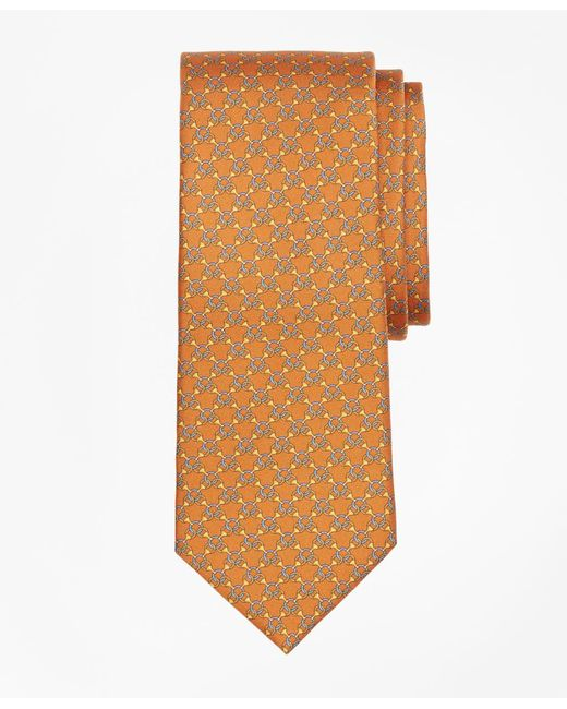 Brooks Brothers - Orange Chain Link Print Tie for Men - Lyst