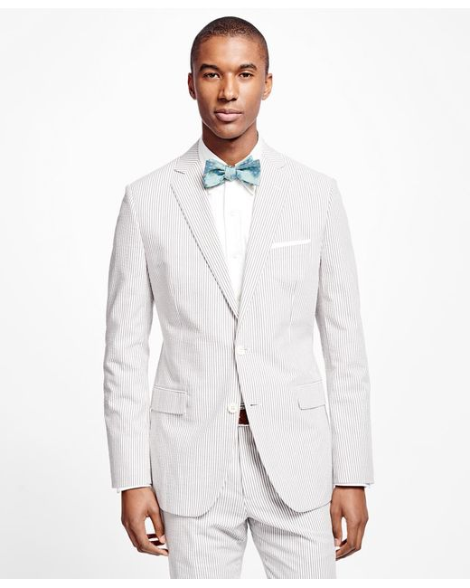 Brooks Brothers | White Fitzgerald Fit Seersucker Suit for Men | Lyst