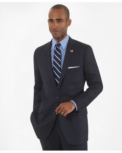 Brooks Brothers - Blue Fitzgerald Fit Saxxontm Wool Herringbone 1818 Suit for Men - Lyst