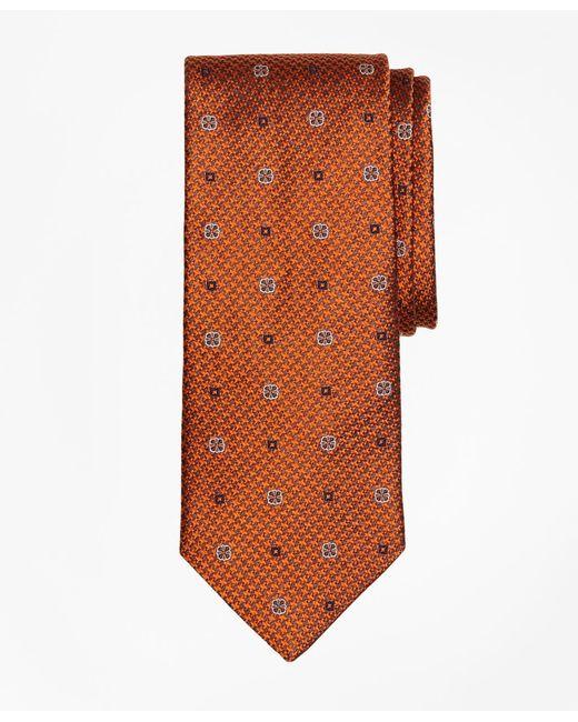 Brooks Brothers - Orange Houndstooth Medallion Tie for Men - Lyst