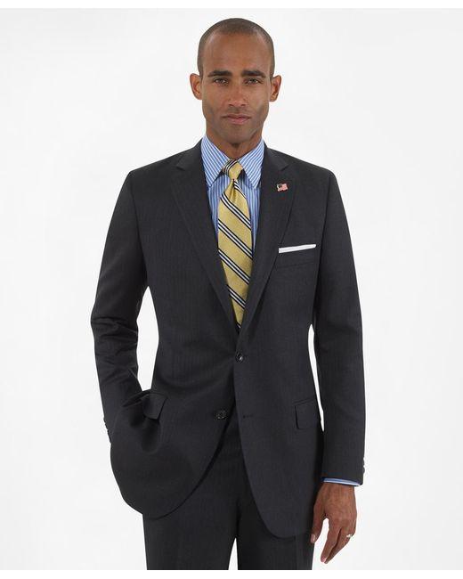 Brooks Brothers | Gray Fitzgerald Fit Saxxon Wool Herringbone 1818 Suit for Men | Lyst