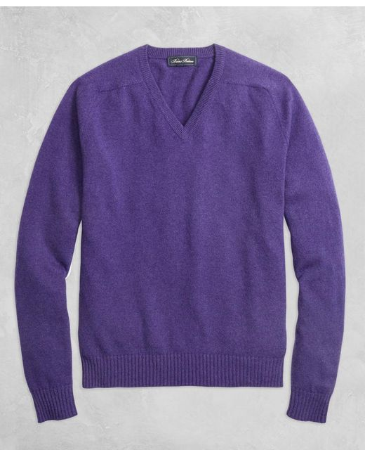 Brooks Brothers - Purple Golden Fleece® 3-d Knit Cashmere Crewneck Sweater for Men - Lyst