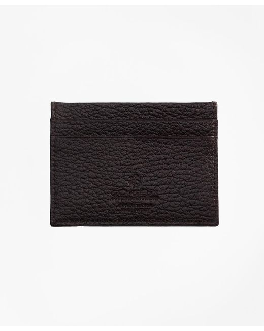 Brooks Brothers - Black Buffalo Slim Card Case for Men - Lyst