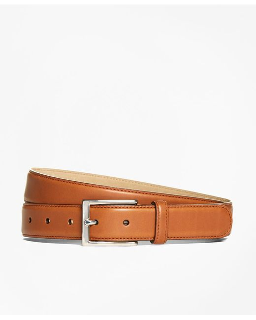 Brooks Brothers - Brown Vegtan Leather Belt for Men - Lyst