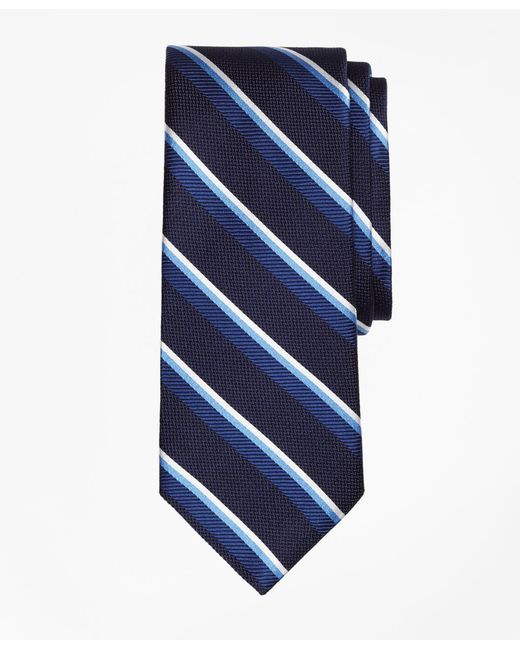 Brooks Brothers - Blue Sidewheeler Double Stripe Tie for Men - Lyst
