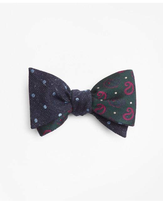 Brooks Brothers - Blue Pine And Dots With Medium Dot Reversible Bow Tie for Men - Lyst