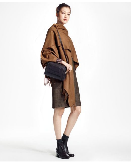 Brooks Brothers | Brown Cashmere Ruana | Lyst