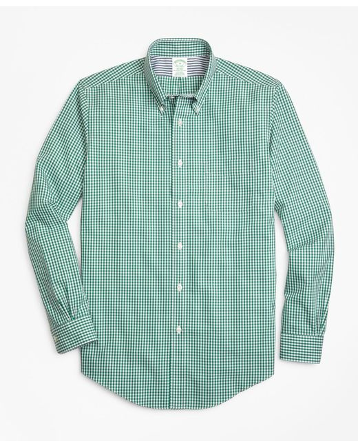 Brooks Brothers - Green Non-iron Milano Fit Gingham Sport Shirt for Men - Lyst