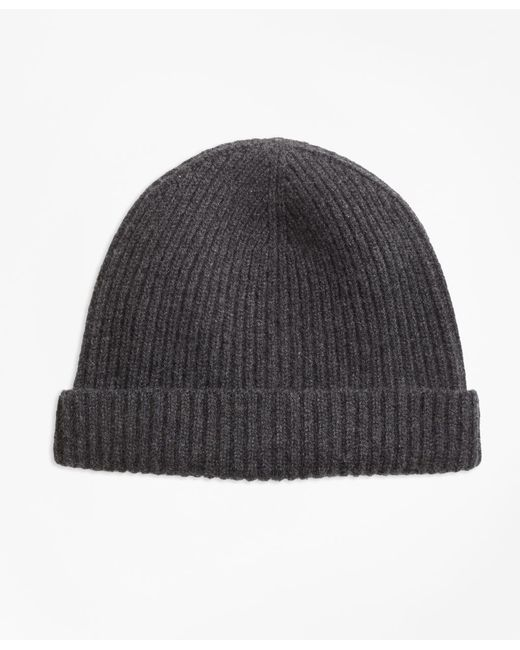 Brooks Brothers - Gray Ribbed Cashmere Hat for Men - Lyst