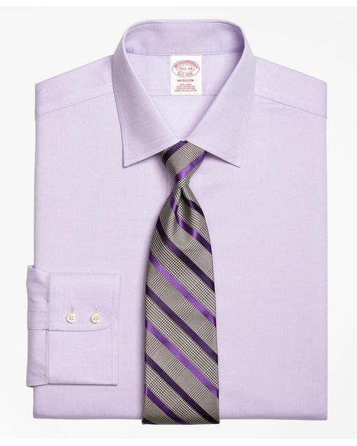 Brooks Brothers - Purple Non-iron Milano Fit Royal Oxford Dress Shirt for Men - Lyst
