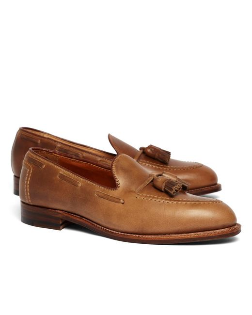 Brooks Brothers - Natural Calfskin Tassel Mocs for Men - Lyst