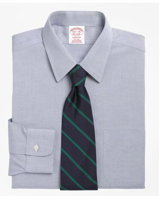 Brooks Brothers - Blue Non-iron Madison Fit Point Collar Dress Shirt for Men - Lyst