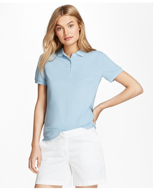 Brooks Brothers - Blue Garment-dyed Pique Polo - Lyst