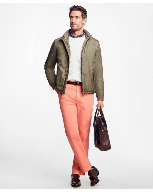 Brooks Brothers | Green Ultra Lightweight Bomber Jacket for Men | Lyst