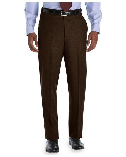 Brooks Brothers | Brown Madison Fit Plain-front Flannel Trousers for Men | Lyst
