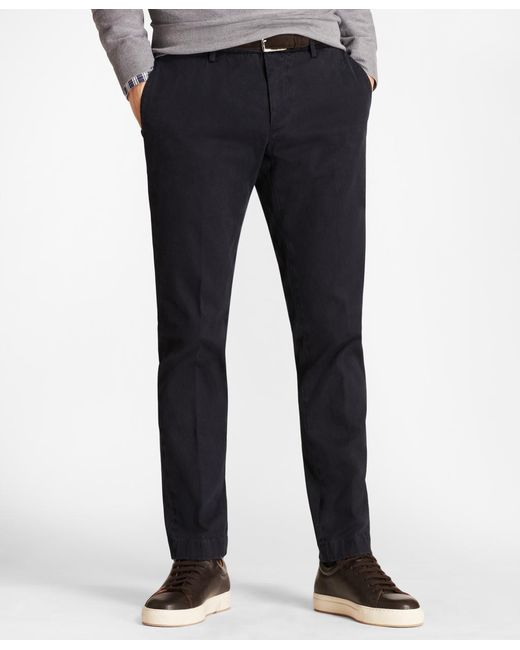 Brooks Brothers - Blue Soho Fit Garment-dyed Stretch Cavalry Twill Chinos for Men - Lyst