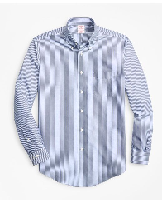 Brooks Brothers - Blue Non-iron Madison Fit Triple-stripe Sport Shirt for Men - Lyst