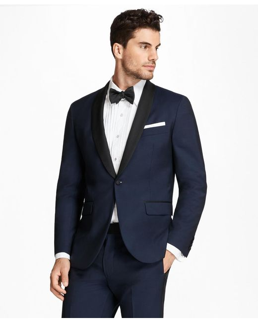 Brooks Brothers - Blue Milano Fit Shawl Collar Navy Tuxedo for Men - Lyst