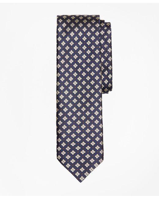 Brooks Brothers - Blue Geometric Print Silk Tie for Men - Lyst