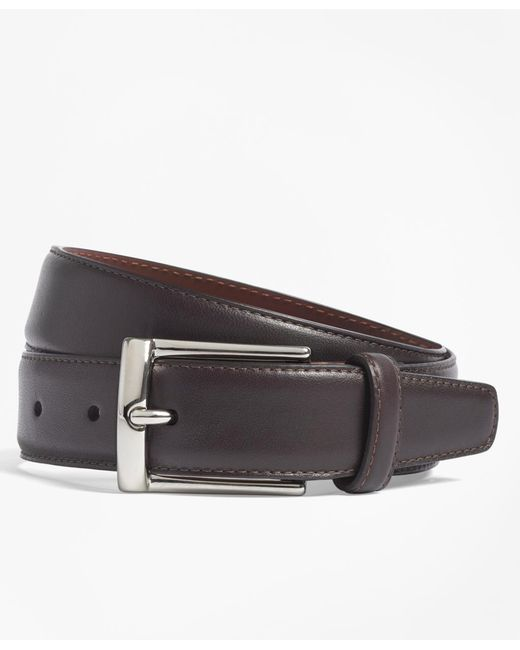 Brooks Brothers - Purple Calfskin Dress Belt for Men - Lyst