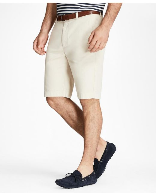 "Brooks Brothers - Natural Garment-dyed 10"" Bermuda Shorts for Men - Lyst"