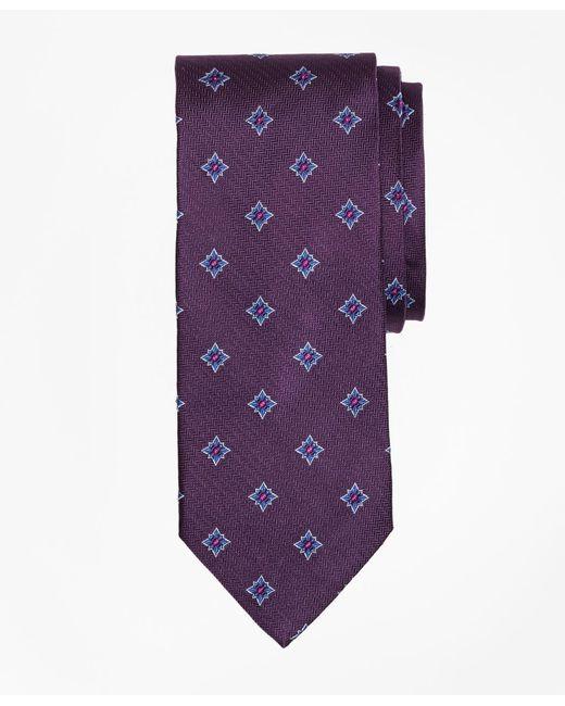 Brooks Brothers - Purple Herringbone Starburst Tie for Men - Lyst