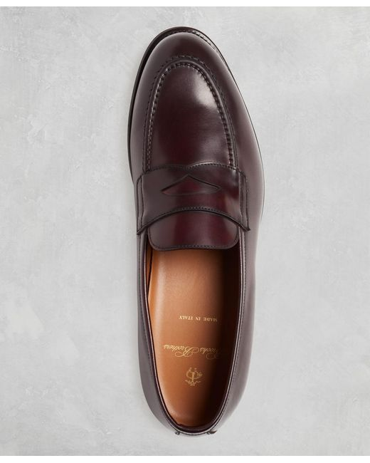 3da5ec092cb ... Brooks Brothers - Multicolor Golden Fleece Cordovan Penny Loafers for  Men - Lyst