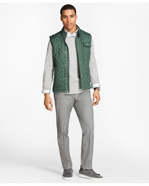 Brooks Brothers | Green Diamond-quilted Vest for Men | Lyst