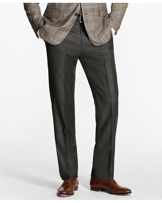 Brooks Brothers - Green Regent Fit Stretch Wool Trousers for Men - Lyst