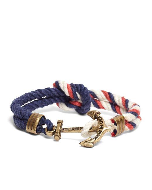 Brooks Brothers - Blue Kiel James Patrick Red Navy And White Triton Bracelet for Men - Lyst