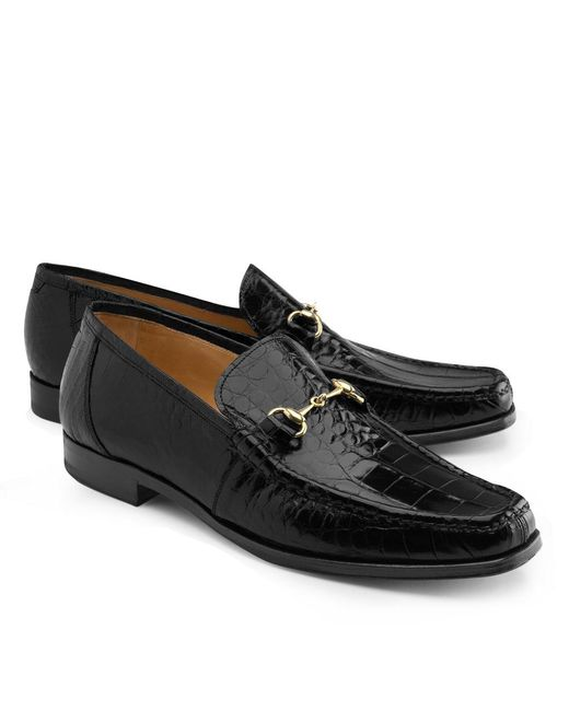 Brooks Brothers - Black Genuine American Alligator Classic Bit Loafers for Men - Lyst