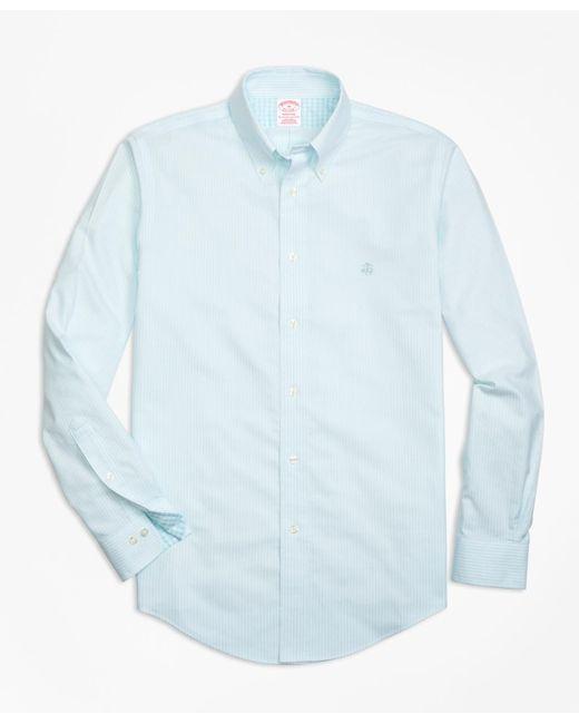 Brooks Brothers | Blue Non-iron Regent Fit Stripe Sport Shirt for Men | Lyst