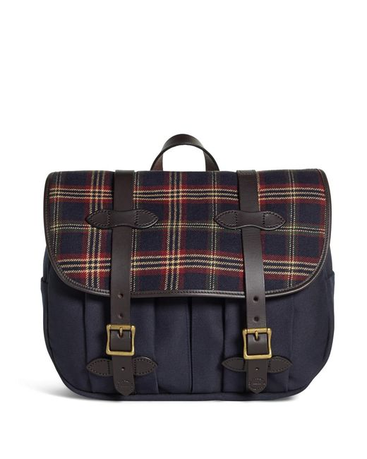 Brooks Brothers | Blue Exclusive For Filson® Tartan And Canvas Messenger for Men | Lyst