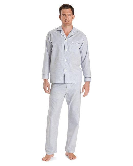 Brooks Brothers - Wrinkle-resistant Blue Stripe Pajamas for Men - Lyst