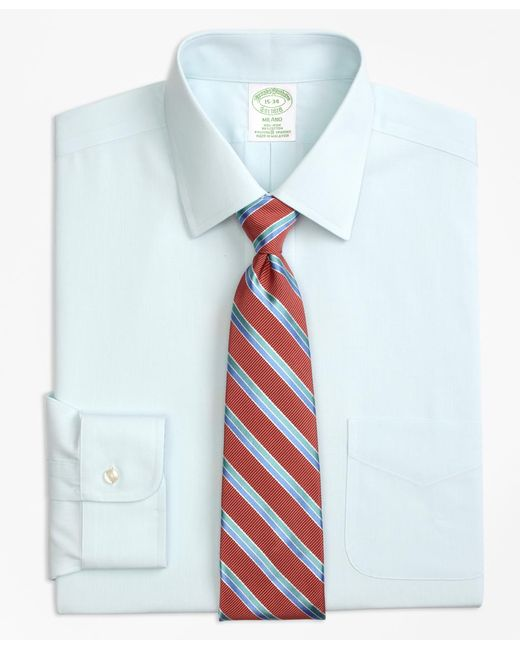 Lyst brooks brothers stretch milano slim fit dress shirt for Slim fit non iron dress shirts