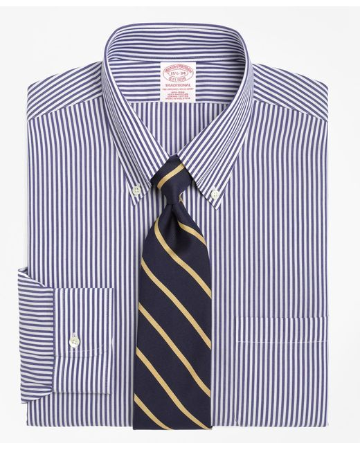 Brooks Brothers | Blue Non-iron Regent Fit Bengal Stripe Dress Shirt for Men | Lyst