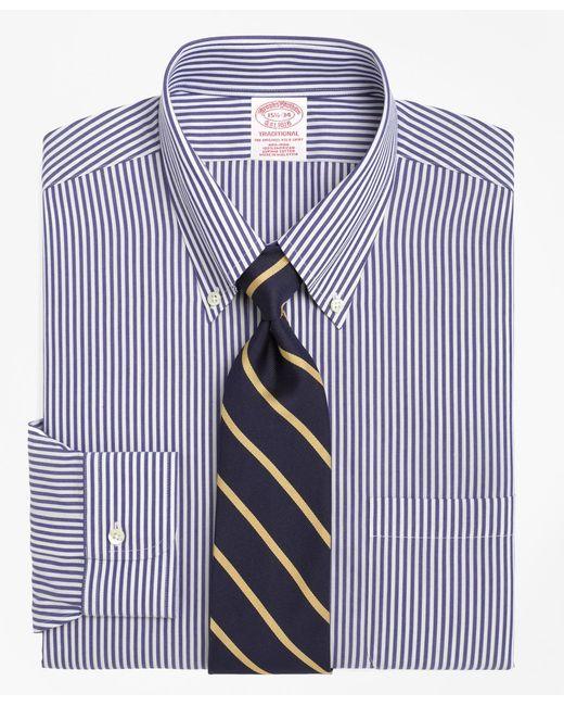 Brooks Brothers | Blue Non-iron Regent Fit Bengal Stripe Dress Shirt for Men | Lyst