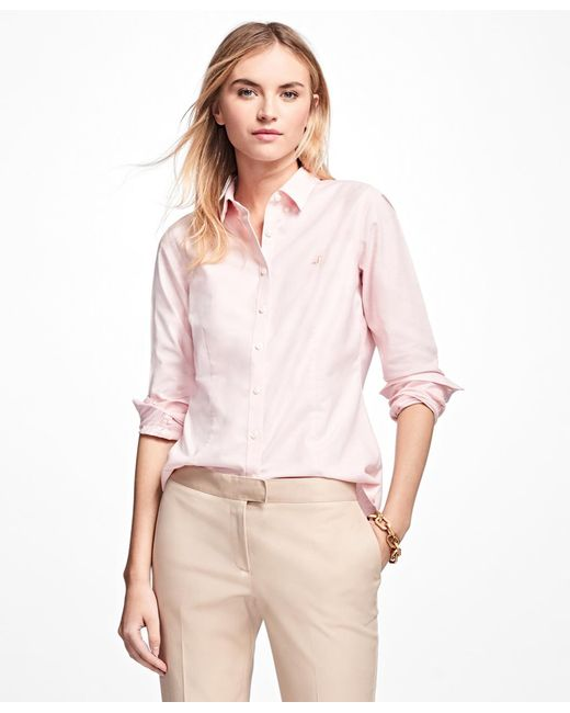 Brooks Brothers - Pink Non-iron Tailored-fit Supima® Cotton Dress Shirt - Lyst