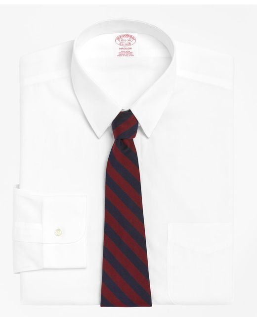 Brooks Brothers - White Non-iron Madison Fit Tab Collar Dress Shirt for Men - Lyst
